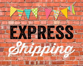 EXPRESS SHIPPING for 100 printed invitations katiedid designs cards