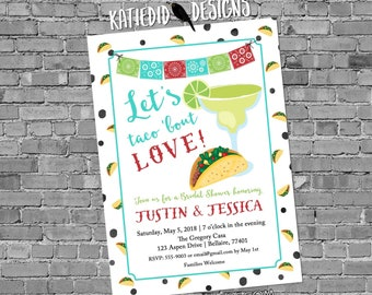 Fiesta Invitation couples shower bridal taco margarita day dead muertos cinco de mayo stock the bar I do BBQ engagement party | 350 Katiedid