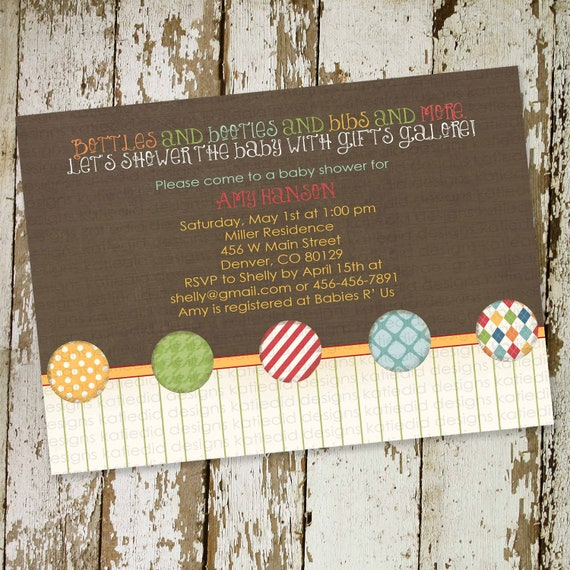 Gender reveal invitation couples baby shower boy rustic neutral sprinkle twins sip see diaper wipes brunch coed LGBT | 1249 Katiedid Designs