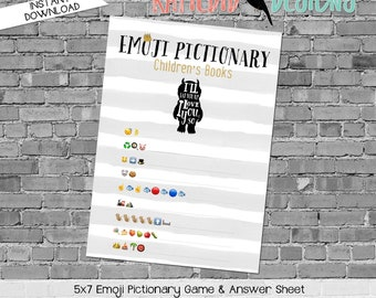 where the wild things are baby shower, emoji baby shower game, storybook baby shower invitation | 296 Katiedid designs
