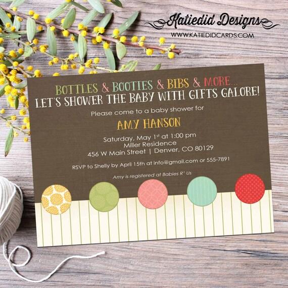 Gender reveal invitation neutral couples baby shower diaper wipes sip see sprinkle twins girl boy brunch rustic gay   1412b Katiedid designs
