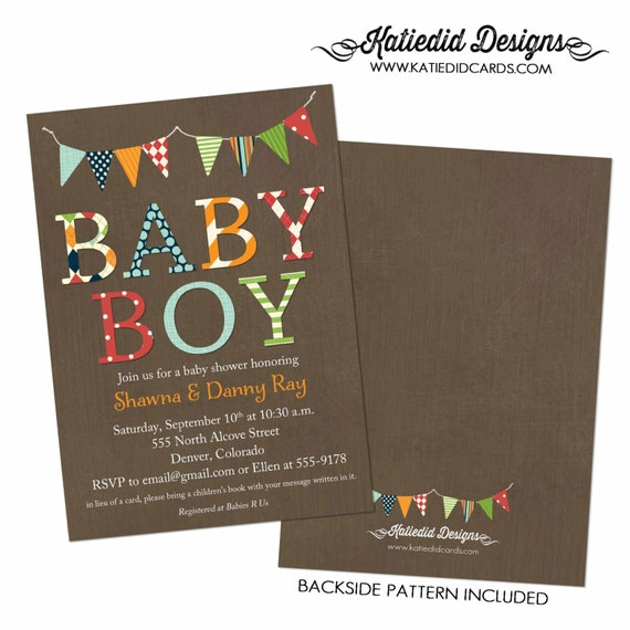 twin baby shower invitation, baby boy shower invitation, coed baby shower invitation  | 1280 Katiedid