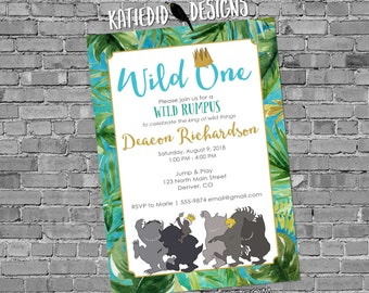 where the wild things are invitations one two storybook luau birthday boy rumpus couple baby shower book theme brunch   2012 Katiedid