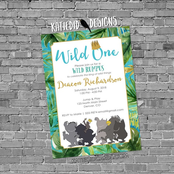 where the wild things are invitations one two storybook luau birthday boy rumpus couple baby shower book theme brunch | 2012 Katiedid
