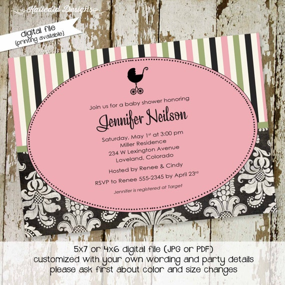 Gender reveal invitation couples baby shower neutral coed sprinkle sip see diaper wipes brunch baby blessing twins | 1310 Katiedid designs