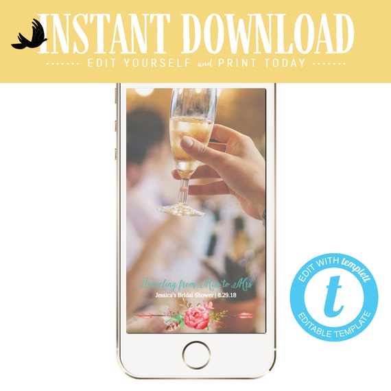 Snapchat geofilter travel theme bridal shower invitation baby couples stock the bar miss to mrs i do bbq boho chic adventure   370 Katiedid