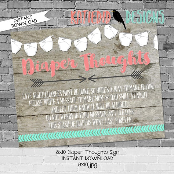 late night diaper game sign mint coral invite Tribal baby shower invitation diaper wipes wood gender reveal brunch 1417 katiedid designs
