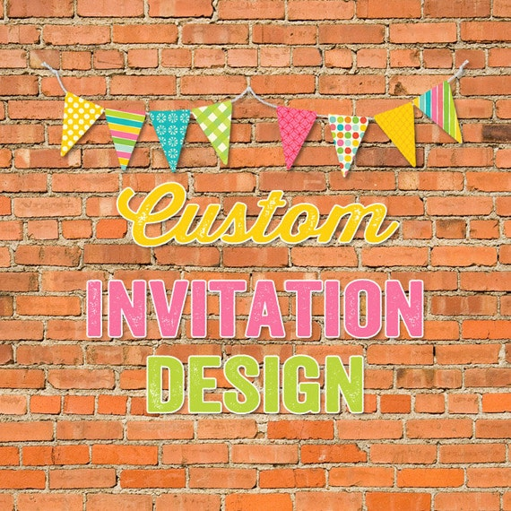 custom invitation design Katiedid Designs cards