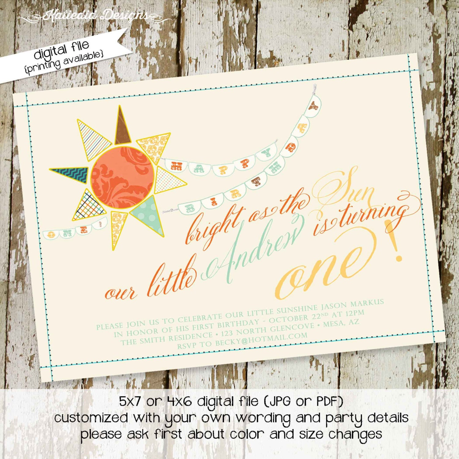 you are my sunshine birthday invitation brighter than the sun first ...