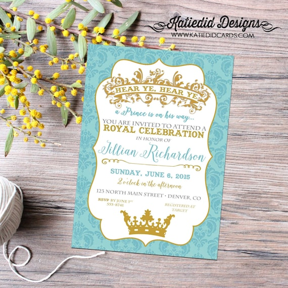 little prince couples baby shower invitation birthday twins boy sprinkle sip see brunch baptism once upon a time storybook   12114 katiedid