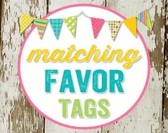 FAVOR TAGS digital and printable file created to match your chosen invite katiedid designs cards