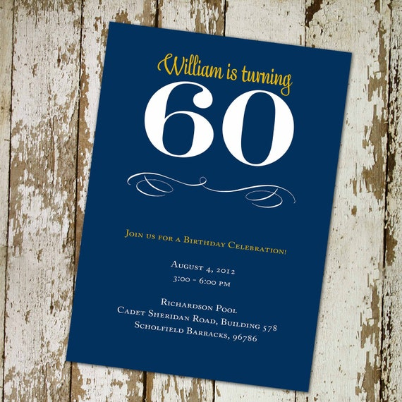 60th birthday invitations memorial announcement 40th man adults only vintage dude 50th 70th 75th retirement party gay   261 katiedid designs