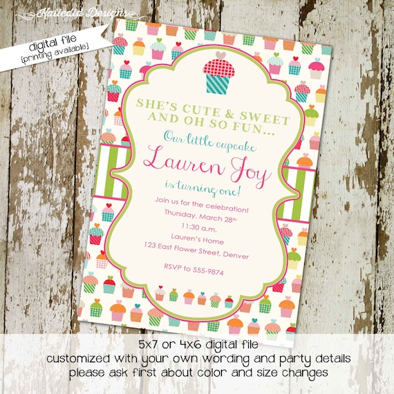 Cupcake Couples Baby Shower Invitation Girl Sprinkle Sip See Etsy