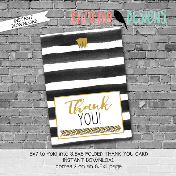 where the wild things are wild rumpus black white stripe teepee tribal invite WTWTA Thank you card folded notecard 292 katiedid designs