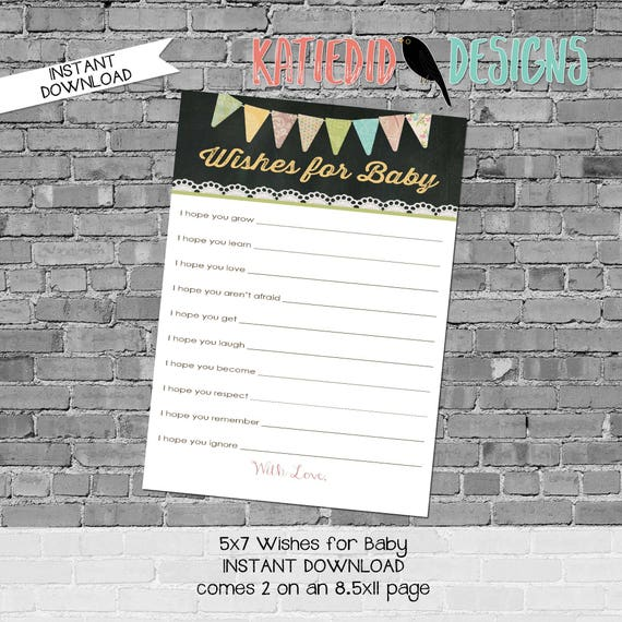 gender reveal party game wishes for baby printable game touchdowns or tutus burlap lace invite chalkboard chic 1431 1410 Katiedid Designs
