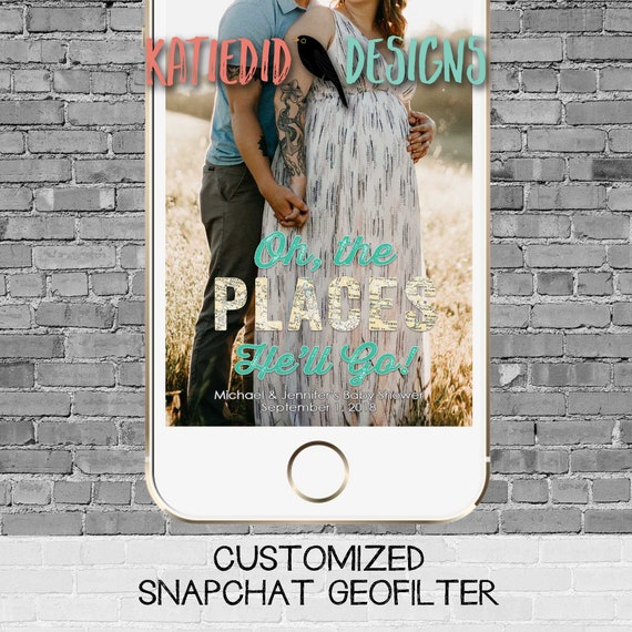 snapchat filter adventure awaits hot air balloon travel theme baby shower world map couples coed oh the places you'll go | 1294 Katiedid
