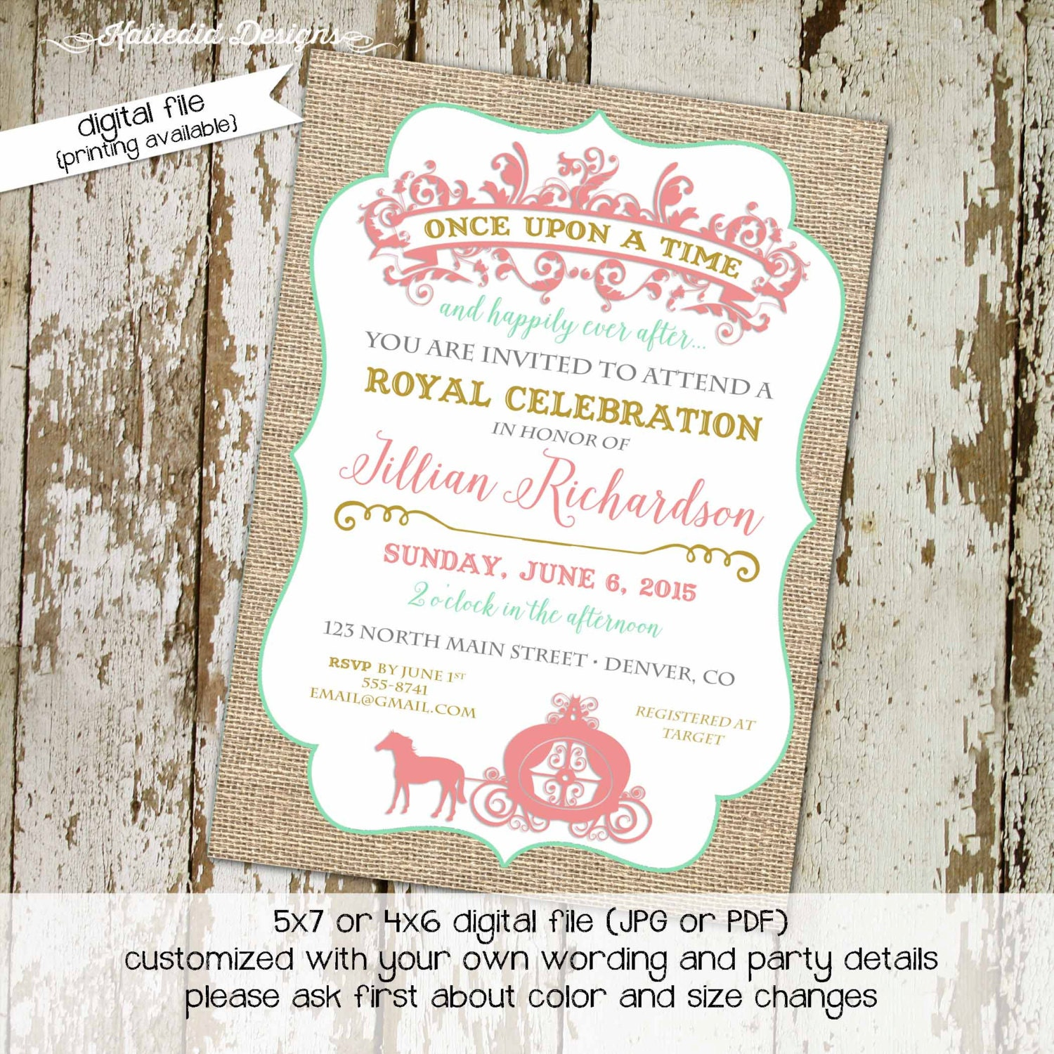 Once Upon A Time Storybook Couples Baby Shower Invitation