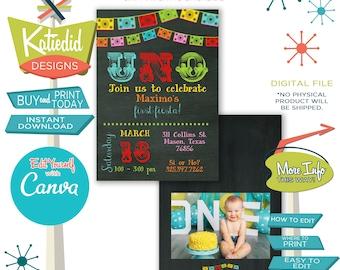 Fiesta Birthday Invitation, Fiesta Baby Shower Invitation, Day of the Dead | 234 Katiedid Designs