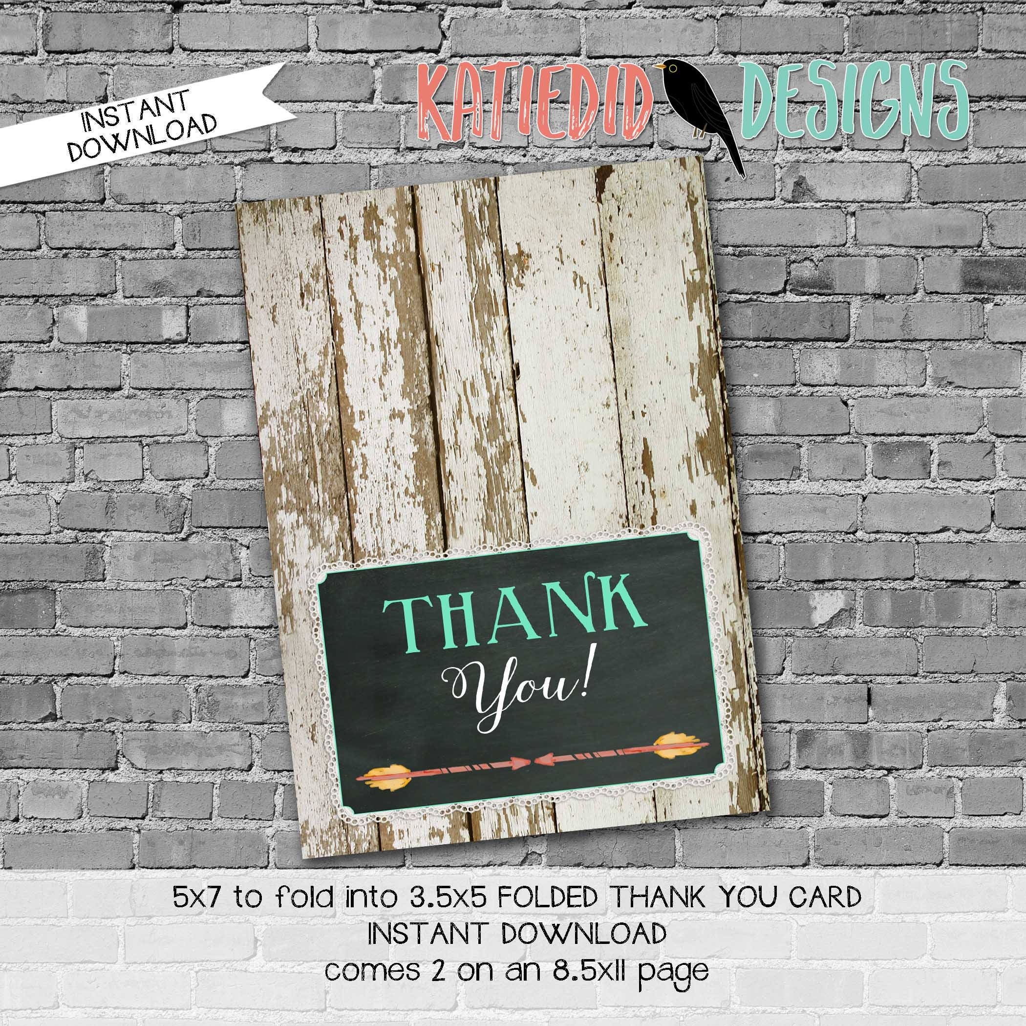 Rustic baby girl shower invitation mint coral boho baby shower rustic baby girl shower invitation mint coral boho baby shower tribal arrow boots bows thank you card folded notecard 1439 katiedid designs filmwisefo