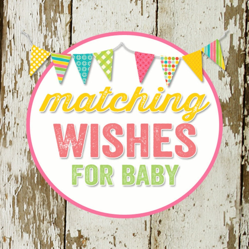 WISHES for BABY to match any invitation for baby shower or image 0
