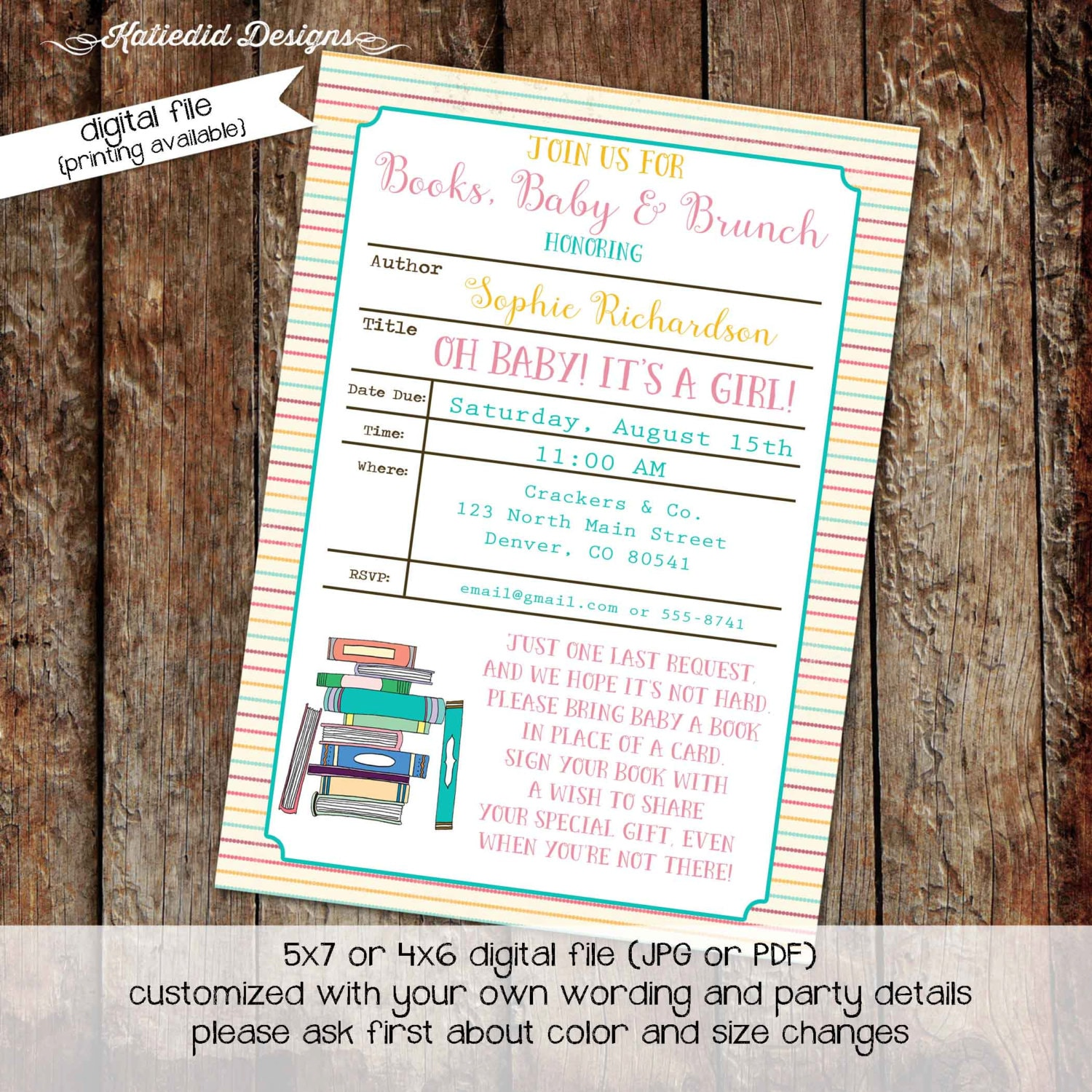 once upon a time baby shower invitation storybook bring a book