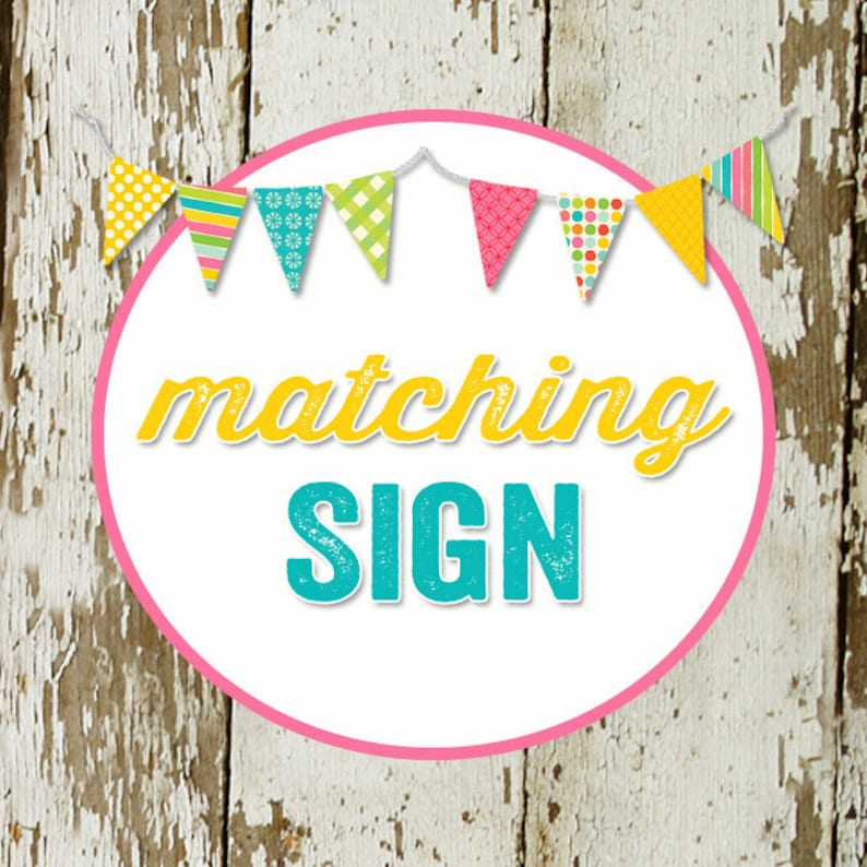 SIGN for party to match any invitation in the shop katiedid image 0