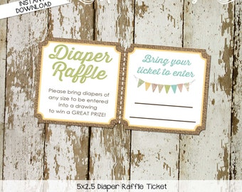 touchdowns or tutus gender reveal baby shower rustic chic lace burlap boots or bows Diaper raffle ticket wipe gay 1431 1410 Katiedid Designs