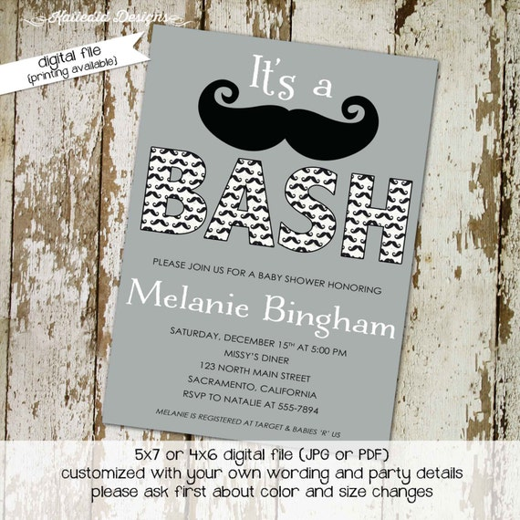Mustache baby boy shower invitation Little man Gentleman oh couples coed sprinkle sip see diaper wipes bash brunch | 1282 Katiedid Designs
