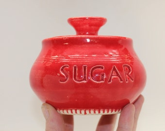 Red Sugar Jar