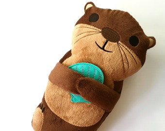 Plush Otter - Stuffed Otter - River Otter - Sea Otter - Stuffed Animal - Significant Otter - Kawaii Otter - Otter Pillow - My Otter Half