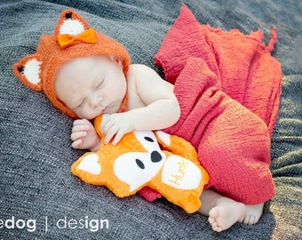 Stuffed Fox - Orange Fox - Stuff Animal - Plush Fox - Personalized Stuffed Animal - Fox Pillow - New Baby Gift  - Nursery Decor - Soft Toy