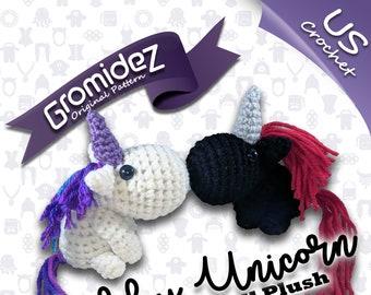 Chubby Unicorn Small Original Design - PATTERN ONLY - US crochet terms