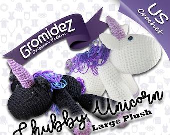 Chubby Unicorn Large Original Design - PATTERN ONLY - US crochet terms