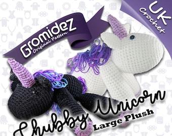 Chubby Unicorn Large Original Design - PATTERN ONLY - UK crochet terms