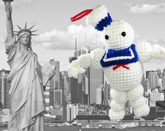 Ghostbusters - Inspired Stay Puft Crochet Plush