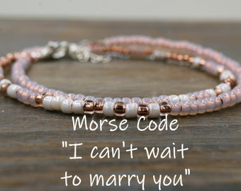 I Cant Wait To Marry You Bracelet For Fiance Gifts Her Birthday Gift Woman Fiances