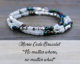 No Matter Where Bracelet, No Matter Where Long Distance Bracelet, Friendship Bracelet Women, Distance Friendship Jewelry, Relationship Gift