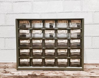 Hardware Cabinet | Vintage | Storage | Organizer | Industrial Decor | Craft  Storage | Bead Organizer | Bead Storage | Farmhouse Decor