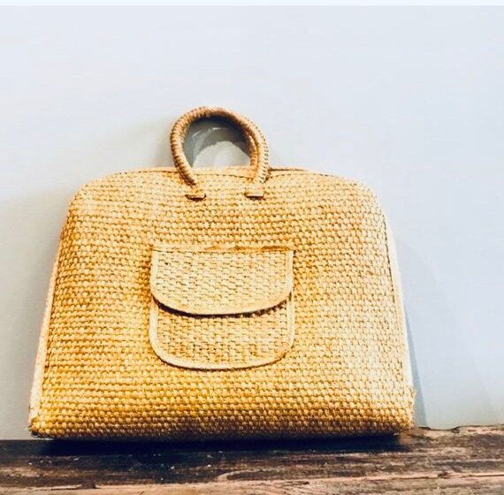 Woven Tote Bag | Wicker Bag | Wicker Purse | Woven