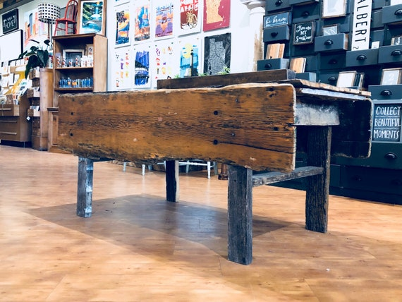 Vintage Farm Table | Rustic Table | Primitive | Dining Table | Home Decor |  Reclaimed Wood | Rustic Home Decor | Potting Table | Work Bench