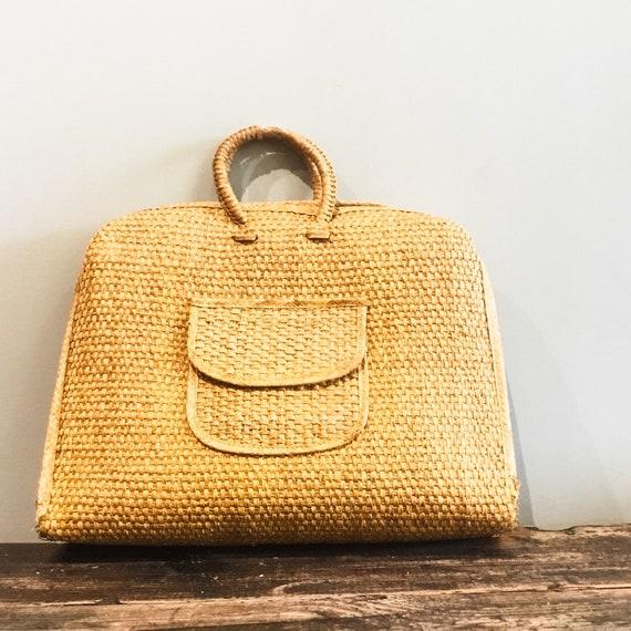 Woven Tote Bag   Wicker Bag   Wicker Purse   Wove… - image 8