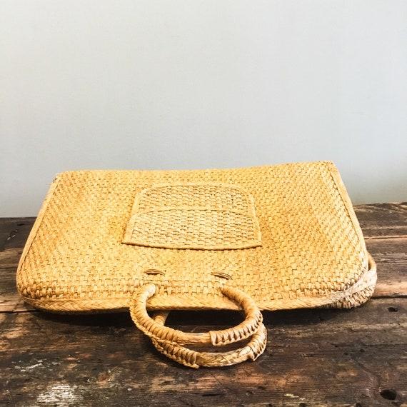 Woven Tote Bag   Wicker Bag   Wicker Purse   Wove… - image 3