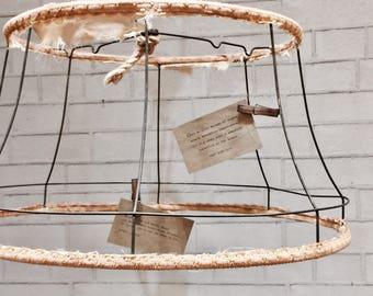 Lamp shade frame etsy vintage lampshade frame wire keyboard keysfo Choice Image