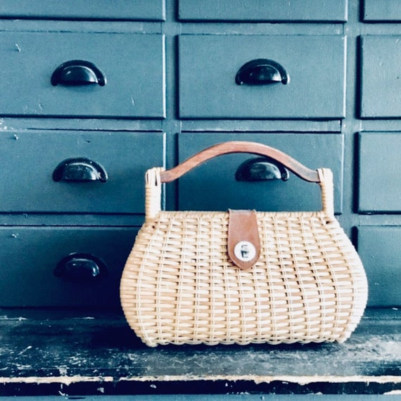 Wicker Handbag | Wicker Purse | Wicker Bag | Vinta