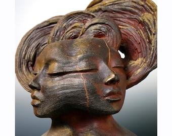 "Ceramic Sculpture - ""The Dyad"" - Twin Souls"
