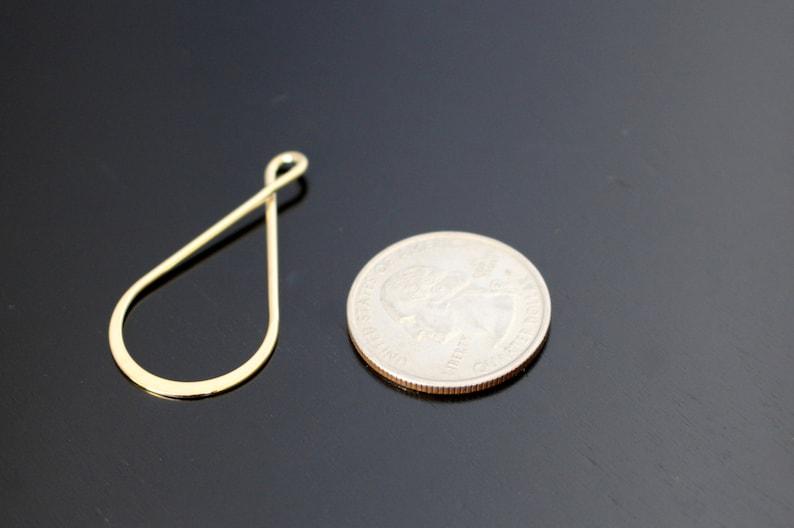 Earring Pendant KY514886 Gold Twisted Teardrop Pendants 2 PC