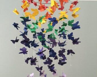 Unter Den Regenbogen V 2   Schmetterling Kronleuchter Mobile   Mädchenzimmer  Mobile, Kinderzimmer Mobile, Baby Mädchen Mobile, Foto Prop,