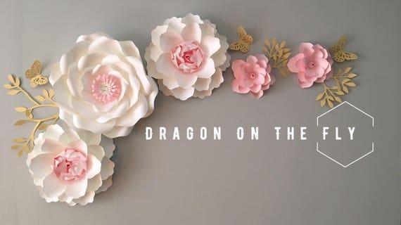 Large paper flower backdrop/paper flower wall decor/ nursery   Etsy