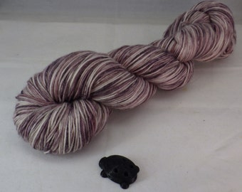 Toothy Cabernet Hand Dyed Sock Yarn