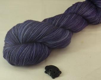 Twilight Grey Hand Dyed Sock Yarn